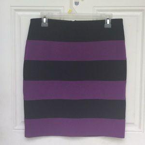 NWOT - Ann Taylor || striped mini body-con skirt